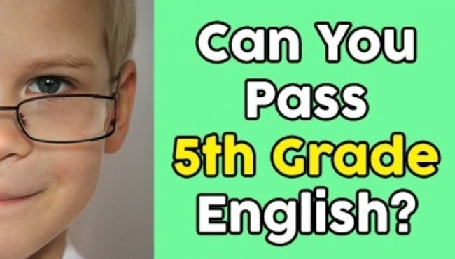 Can You Pass 5th Grade English?